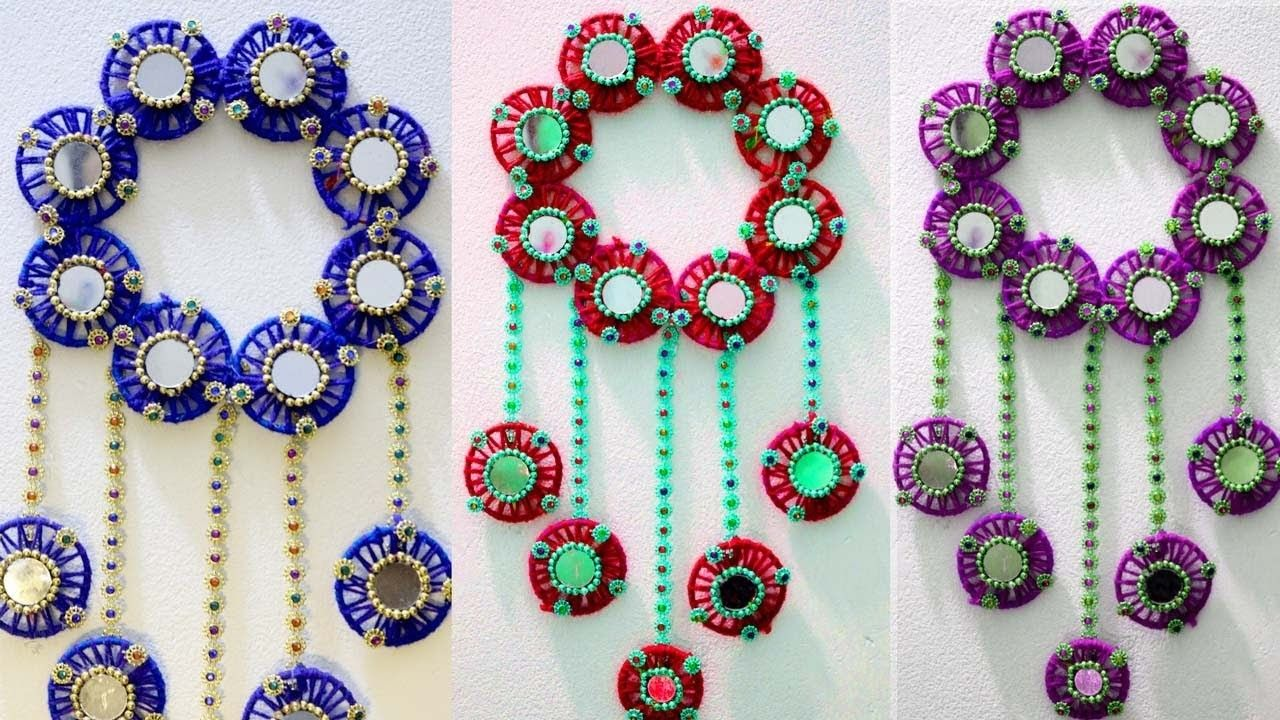 DIY Wall Hanging Decor From Old Waste Bangles   Room Decor Ideas For Diwali    Old Bangles Craft