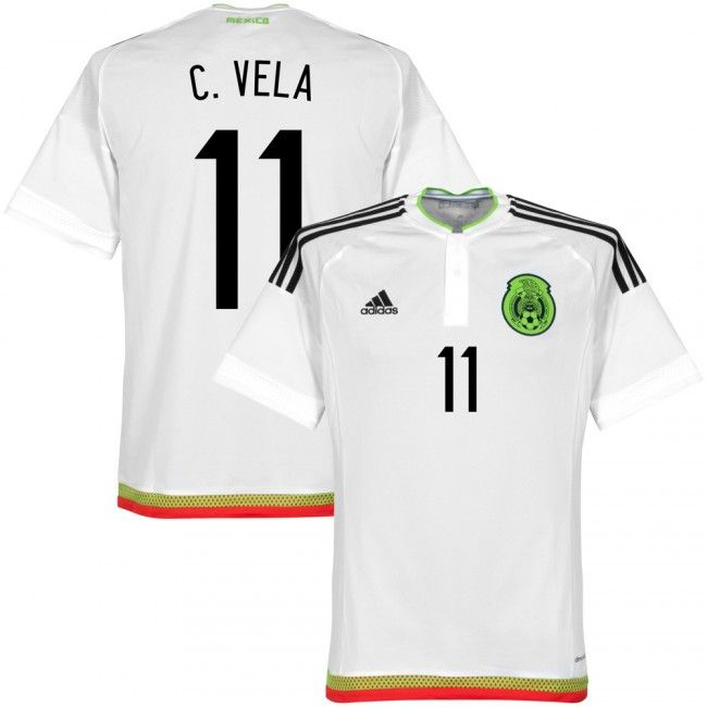 mens medium copa america 2015 mexico carlos vela 11 away soccer jersey