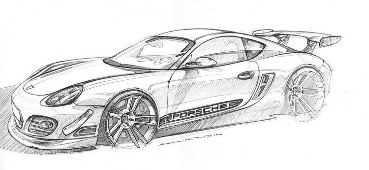 Porsche Cayman Sketch Process Step 1 Porsche 987