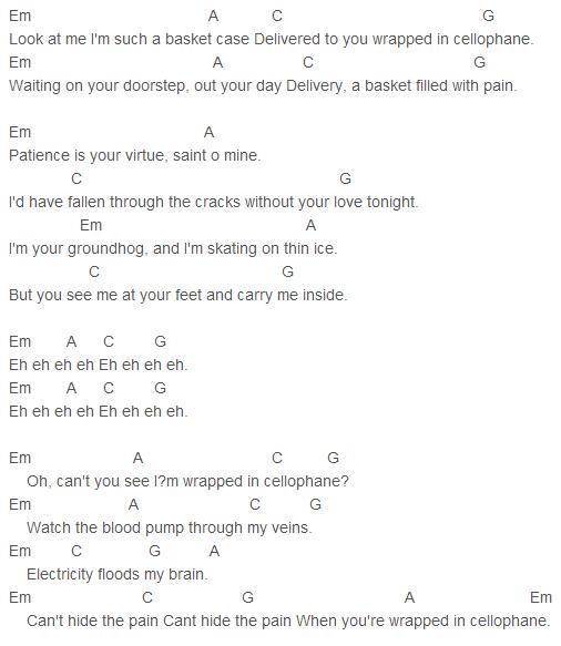Sia - Cellophane Chords Capo 4 | Sia | Pinterest | Ukulele tabs ...
