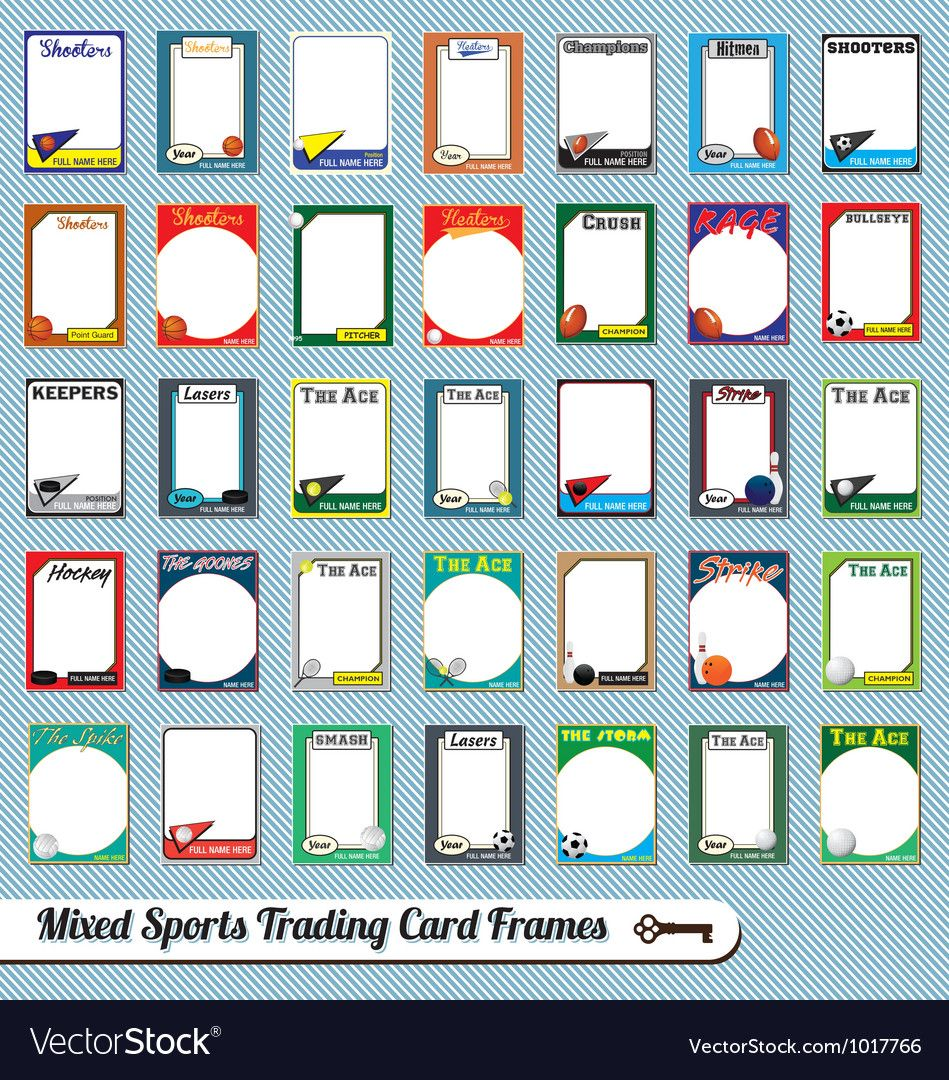 The Amazing Mixed Sports Trading Cards Within Free Sports Card Template Digital Photography Below Is Segment Of Free Sports Card