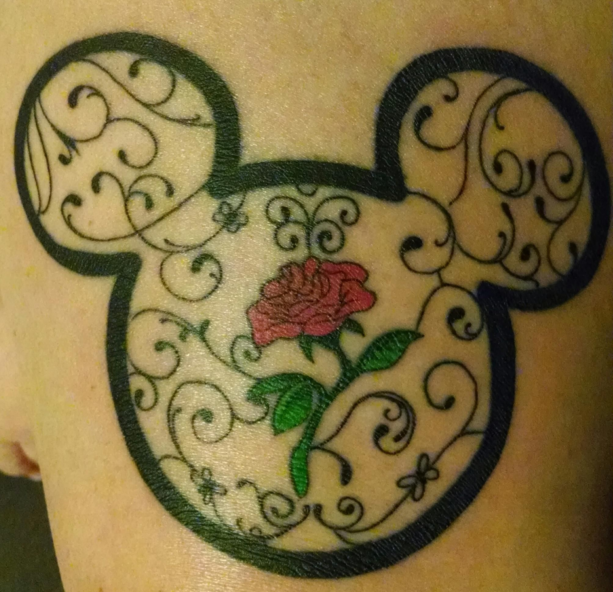b221aa2aa62d5 Disney Mickey Mouse and beauty and the beast tattoo | Tattoos ...