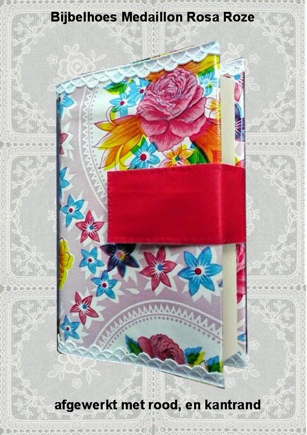 Bijbelhoezen : Bijbelhoes Medaillon Rosa roze vanaf € 4,-
