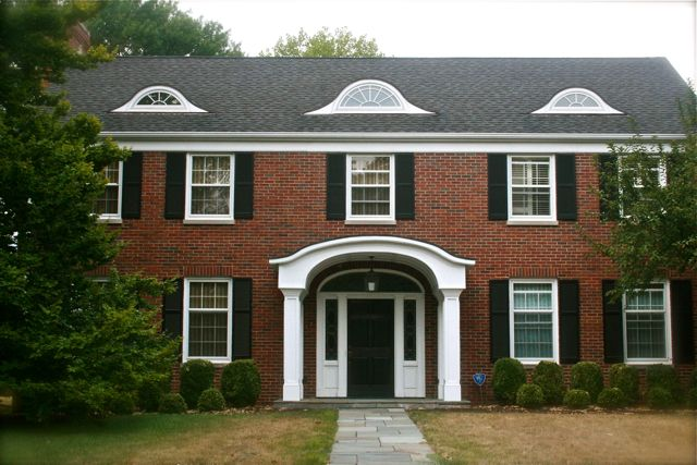 Housetalkn a brick colonial house tour home sweet home for Brick styles for houses