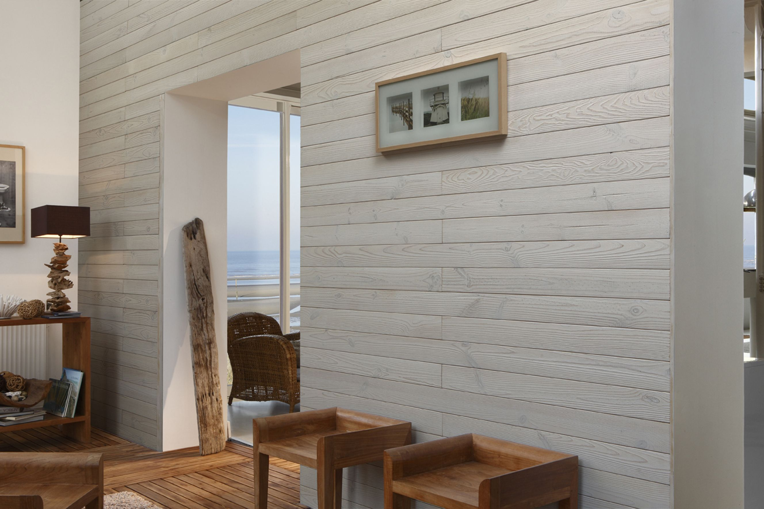 image result for peinture bois blanc avec images