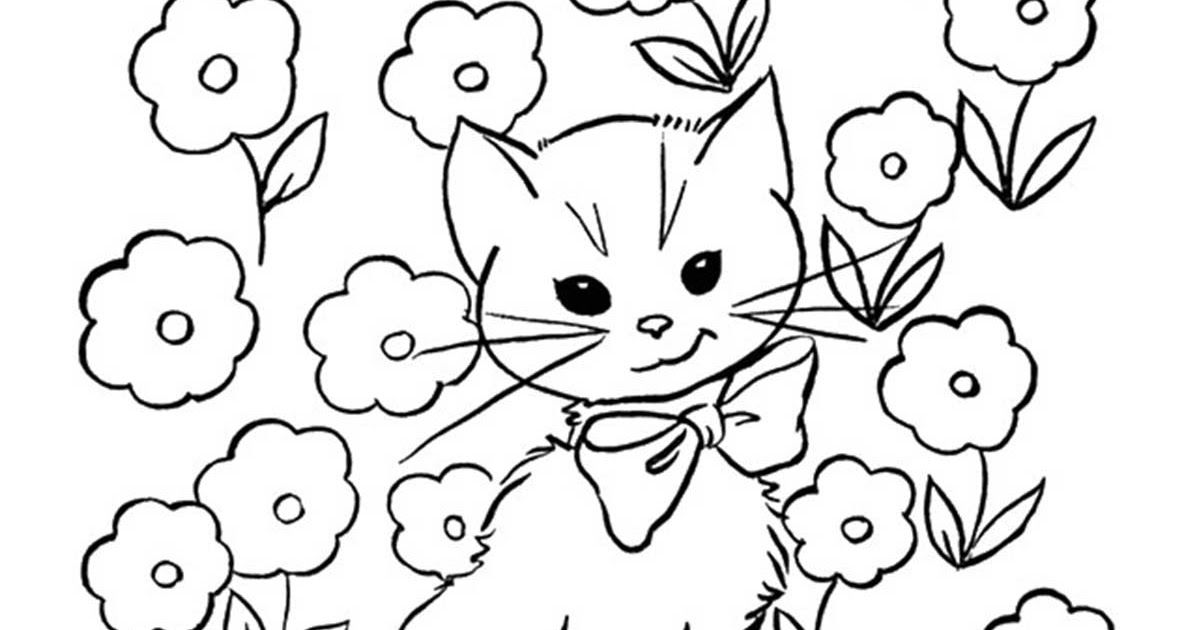 Top 30 Free Printable Cat Coloring Pages For Kids Free Cat Colouring Pages To Print Pusat H In 2020 Cat Coloring Book Cat Coloring Page Christmas Coloring Printables