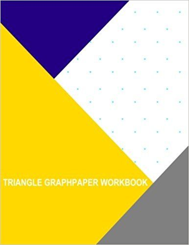 Triangle Graph Paper Workbook 1 Inch Thor Wisteria - triangular graph paper