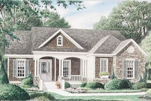 Exterior - Front Elevation Plan #34-110 - Houseplans.com