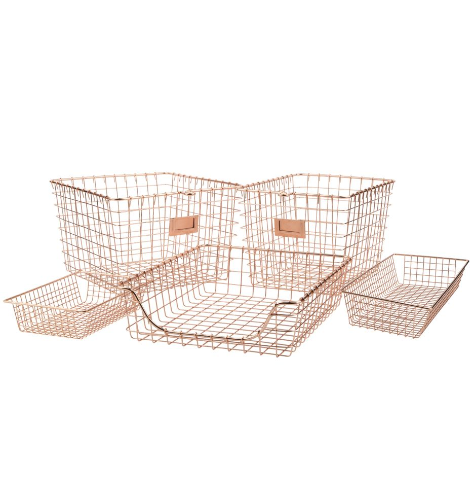 Copper Wire Gym Baskets | office | Pinterest | Copper wire ...