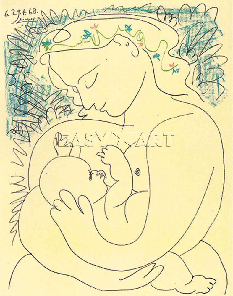 Picasso la maternité | Pablo picasso | Pinterest | Picasso, Picasso ...