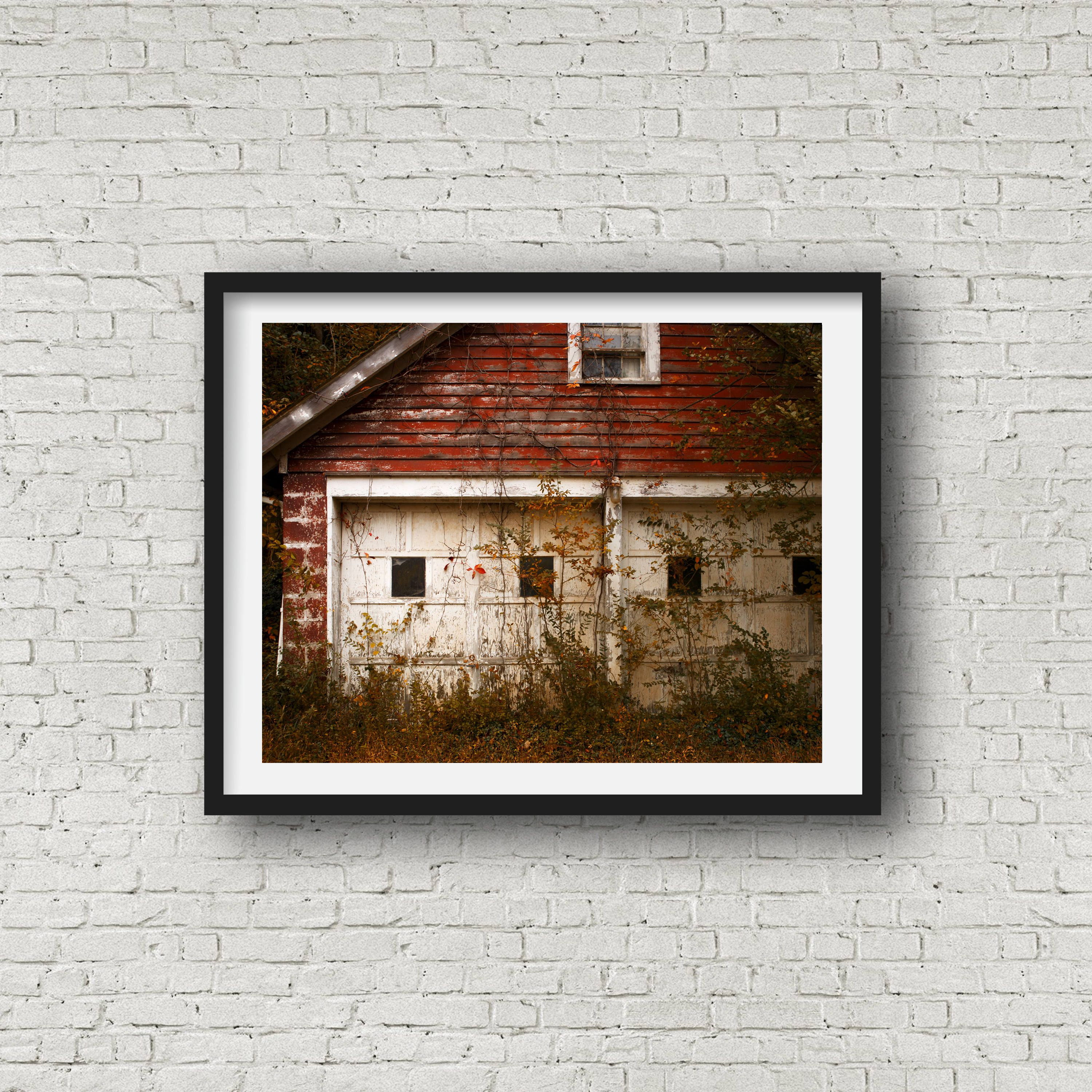 Red Garage Farmhouse Art Rustic Vintage Home Decor Red Kitchen Art