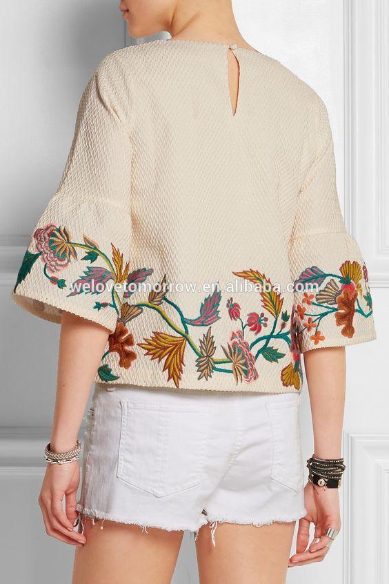 diseños de bordados a mano para blusas ile ilgili görsel sonucu ...