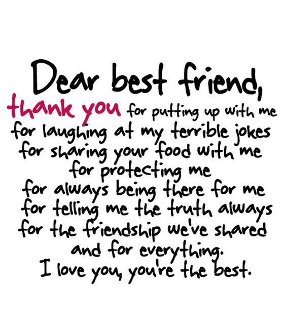 thank you letter to best friend 28 images thank you my