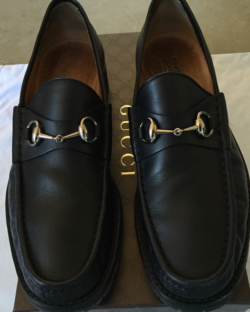 08fd1db68bc Gucci Horsebit Loafers Lug Sole Leather Black Mens US Size M12D  (MSRP  595.00)  fashion  clothing  shoes  accessories  mensshoes  dressshoes  (ebay link)