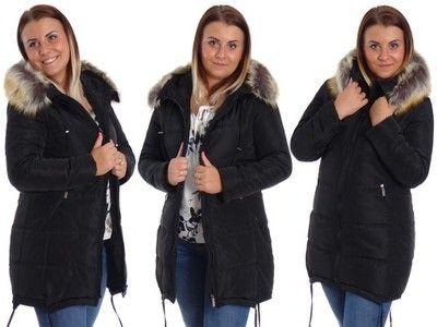 Polska Kurtka Zimowa Plaszcz Parka Black Roz 48 6935096184 Oficjalne Archiwum Allegro Winter Jackets Rain Jacket Fashion