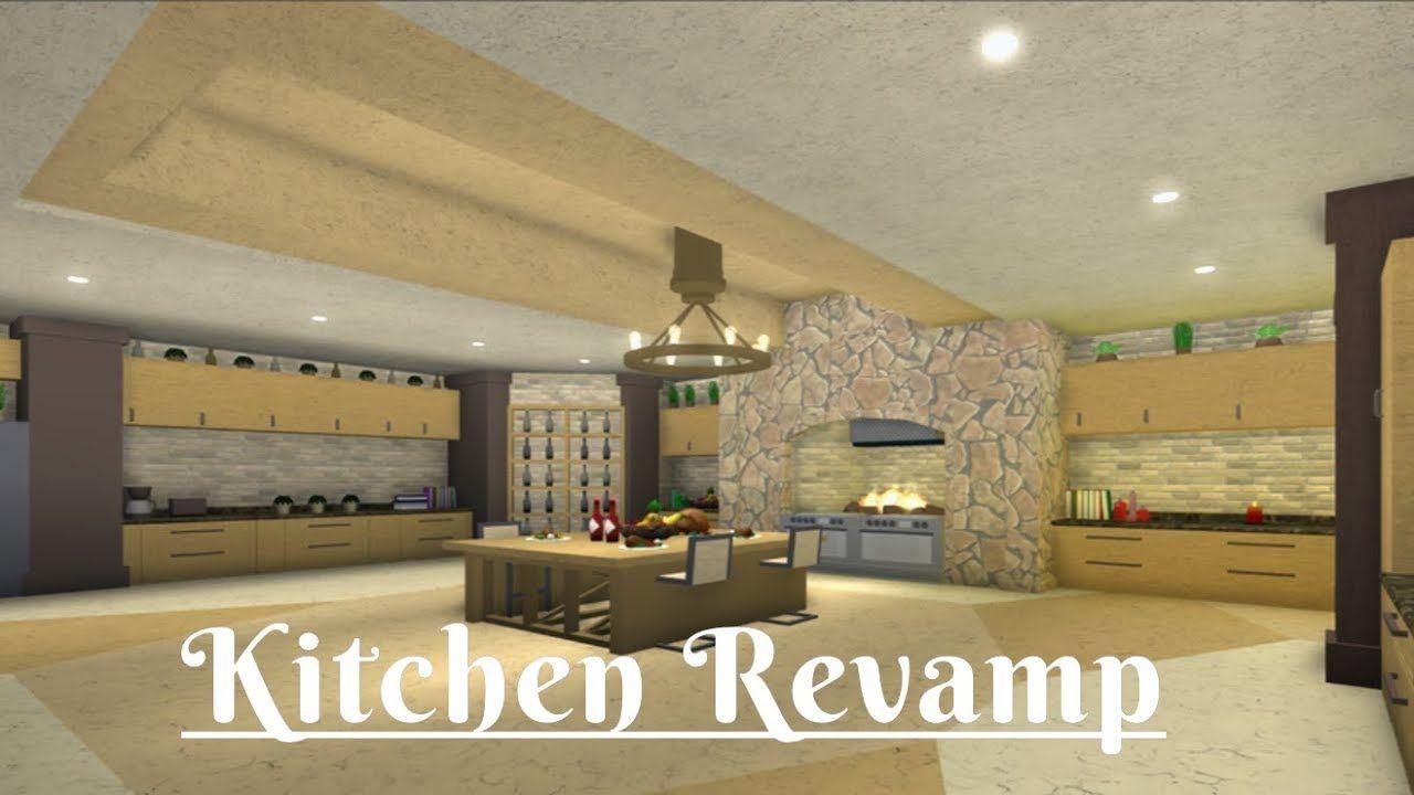 Roblox Bloxburg Kitchen Revamp Tour Youtube Kitchen Remodel