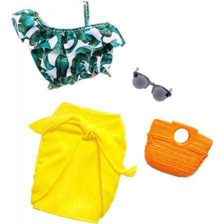 Barbie Complete Looks Tropical Wrapskirt Fashion Pack - Walmart.com