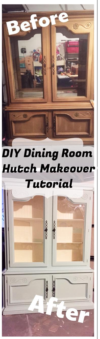 Dining Room Hutch Makeover Tutorial