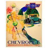 Original Vintage Chevrolet Classic Car Advertising Poster Most Elegant Small Car…
