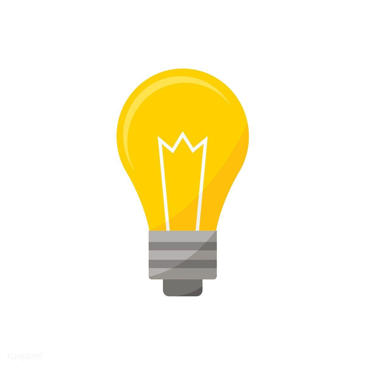 Light Bulb Icon Graphic Illustration Free Image By Rawpixel Com Light Bulb Icon Graphic Illustration Illustration