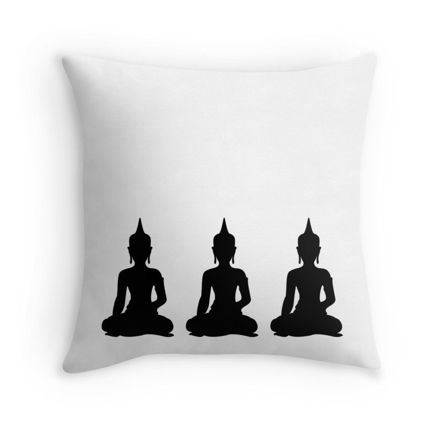 Simple Black White Buddhas Buddha Pinterest Pillows And Adorable Buddha Decorative Pillows