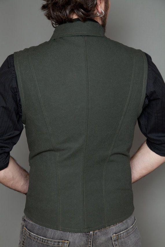 Pinkerton Vest Olive SIZE 38 by Lastwear on Etsy