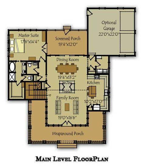 Independent And Simplified Life With Garage Plans With: 2 Story House Plan With Covered Front Porch