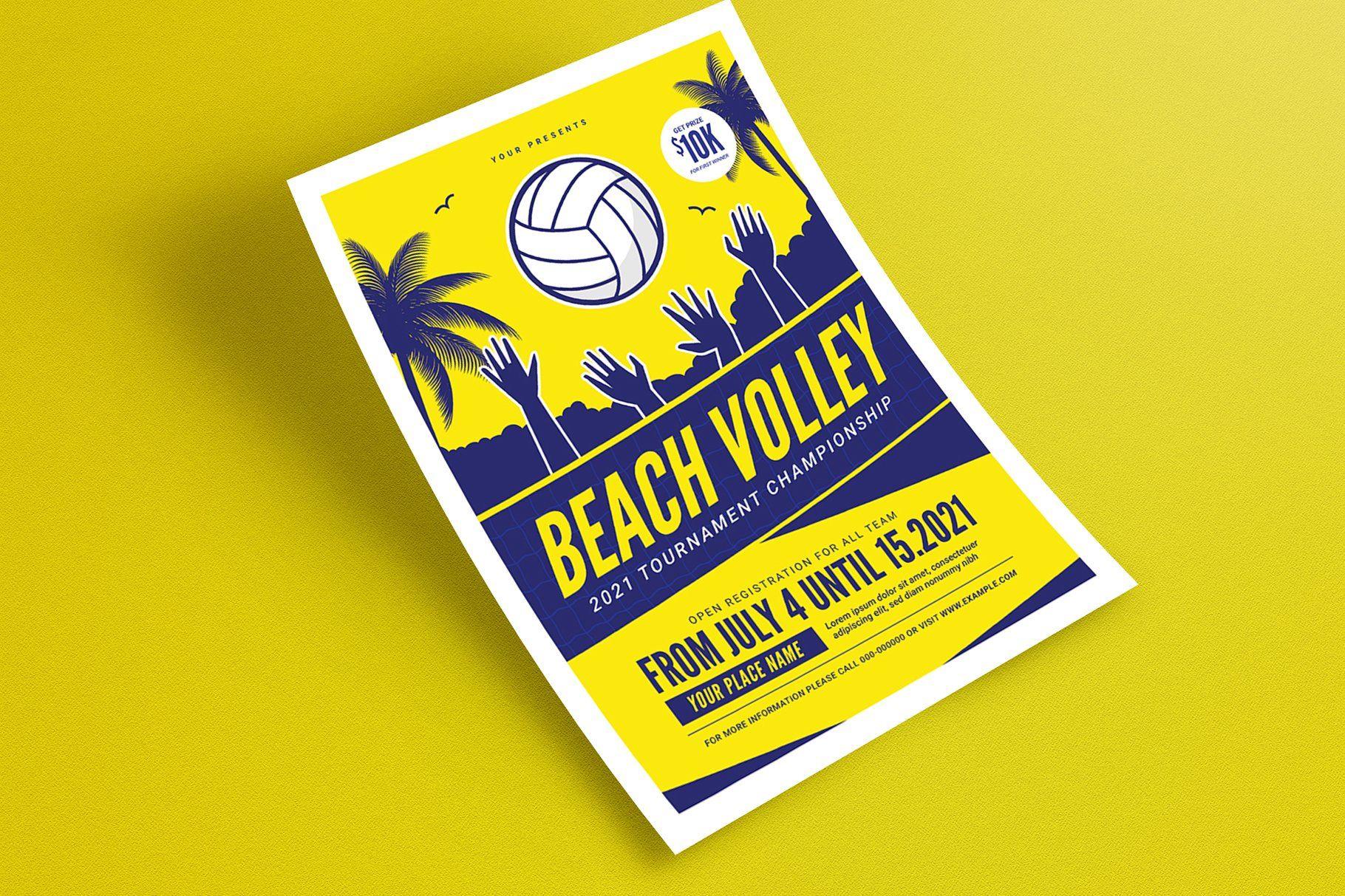 Beach Volleyball Tournament Flyer Flyer Graphic Design Tutorials Find Fonts
