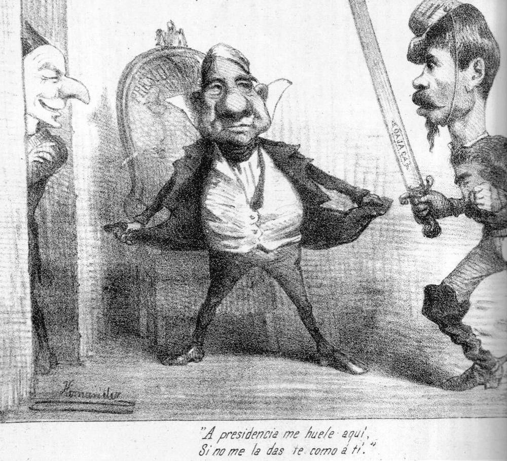 Resultado de imagen para caricatura politica de emperatriz carlota
