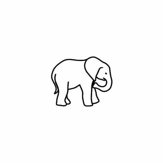Classic Black Outline Elephant Tattoo Stencil Elephant Tattoo Small Elephant Tattoos Elephant Tattoo Design