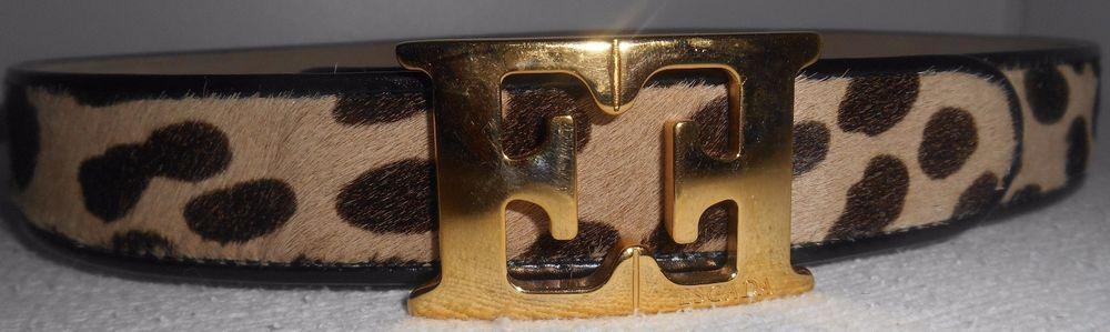 Escada vintage Leopard logo Belt...Bye...Bye...Have a great time in CALI.