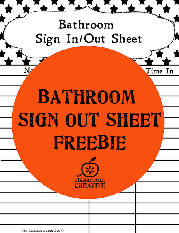 Bathroom Sign Out on Pinterest
