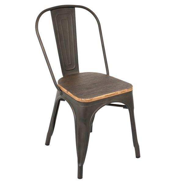 industrial antiqued dining chair overstock shopping great deals