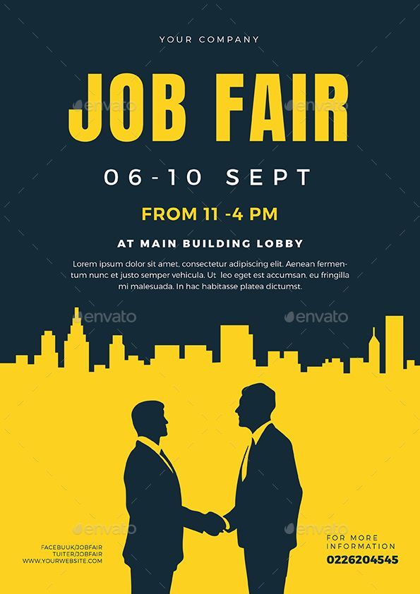 Job Fair Flyer Template 02 Events Event Flyers Job Fair Flyer