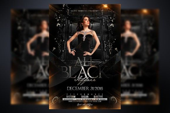 all black affair pinterest flyer template template and fonts