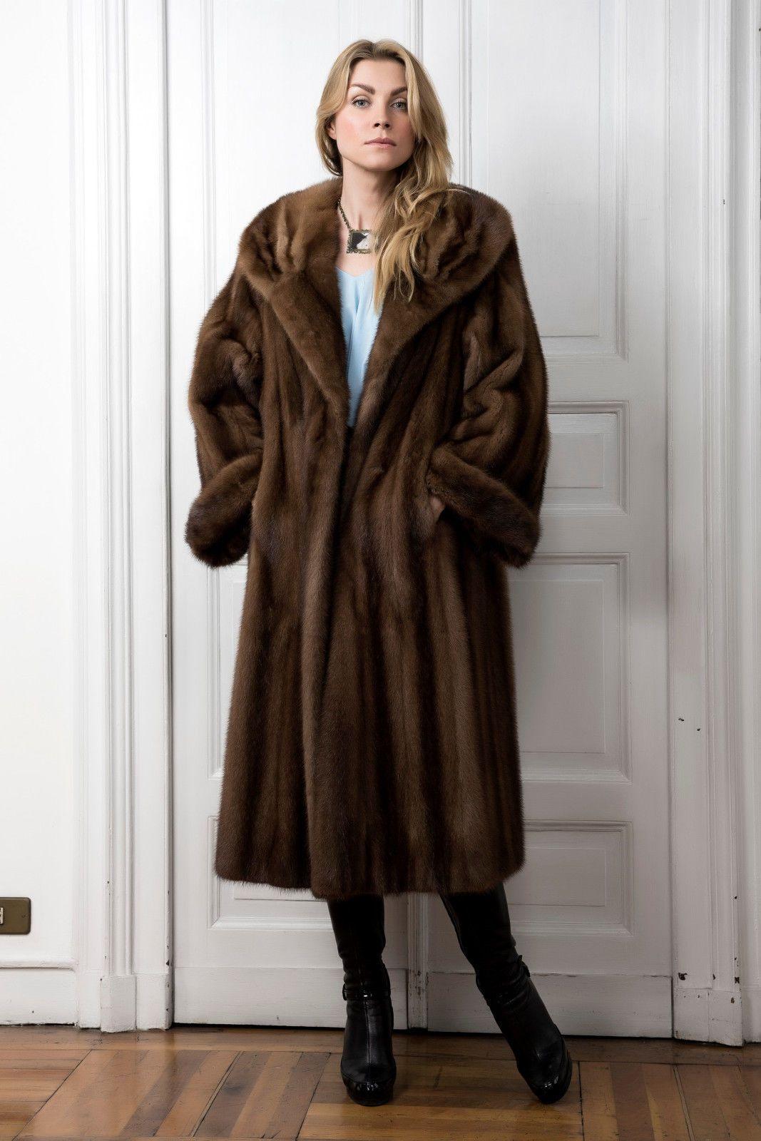Demi Buff Mink Fur Coat Pelliccia Visone Maschio Pelisse Vison Nerzpelzmantel | eBay
