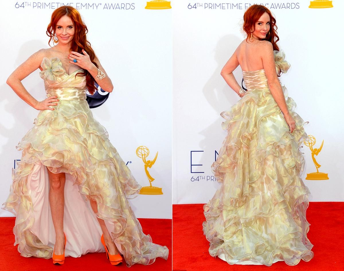 Phoebe price looks like sheus off to the prom dress nude beige