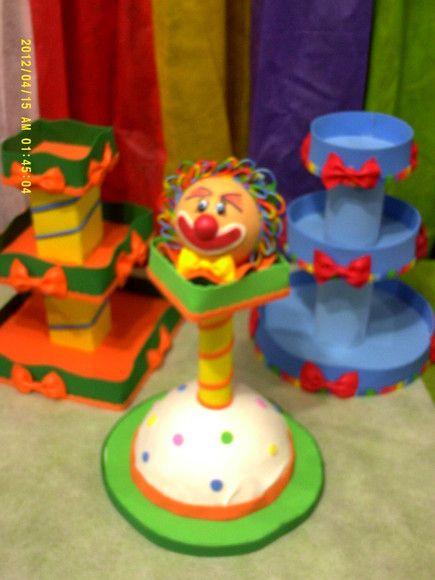 Baleiros Decorativoss Em Eva Tema Circo R 50 00 Bandejas Para