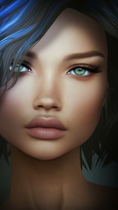 3d 3d art art art girl artists background beautiful - Anime face wallpaper ...