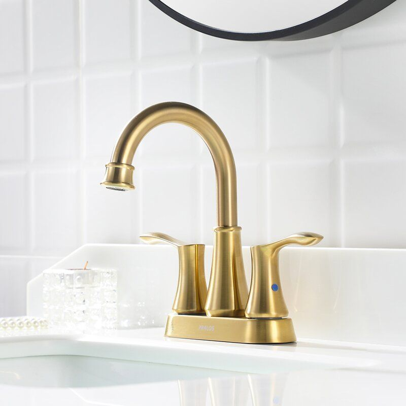 Bathroom Sink Faucet With Pop-Up Drain And Water Supply ...