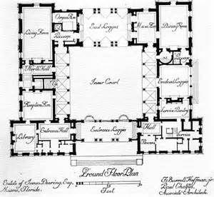 Spanish Villa Floor Plans Bing Images Courtyard House Plans Mediterranean House Plans U Shaped House Plans