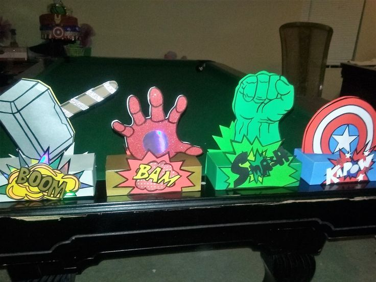 Avengers Party Decorations Centerpiece Diy Visit To Grab