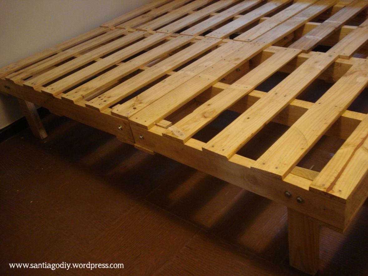 Our Diy Pallet Bed | diy bedroom | Pinterest