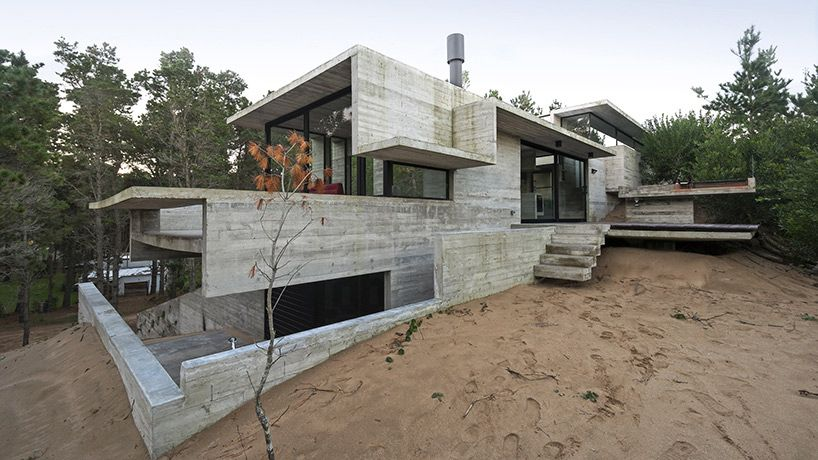 Raw Concrete Home Has Everything Inside Built From