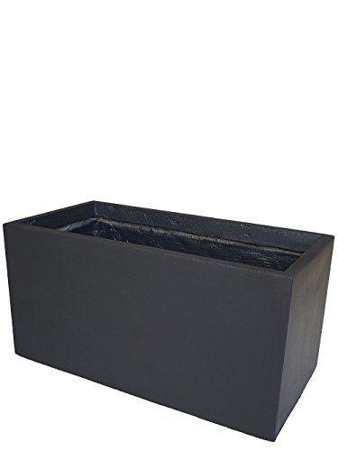 PFLANZWERK® Pflanzkübel Anthrazit 40x80x40cm *Frostbeständig* *UV ...