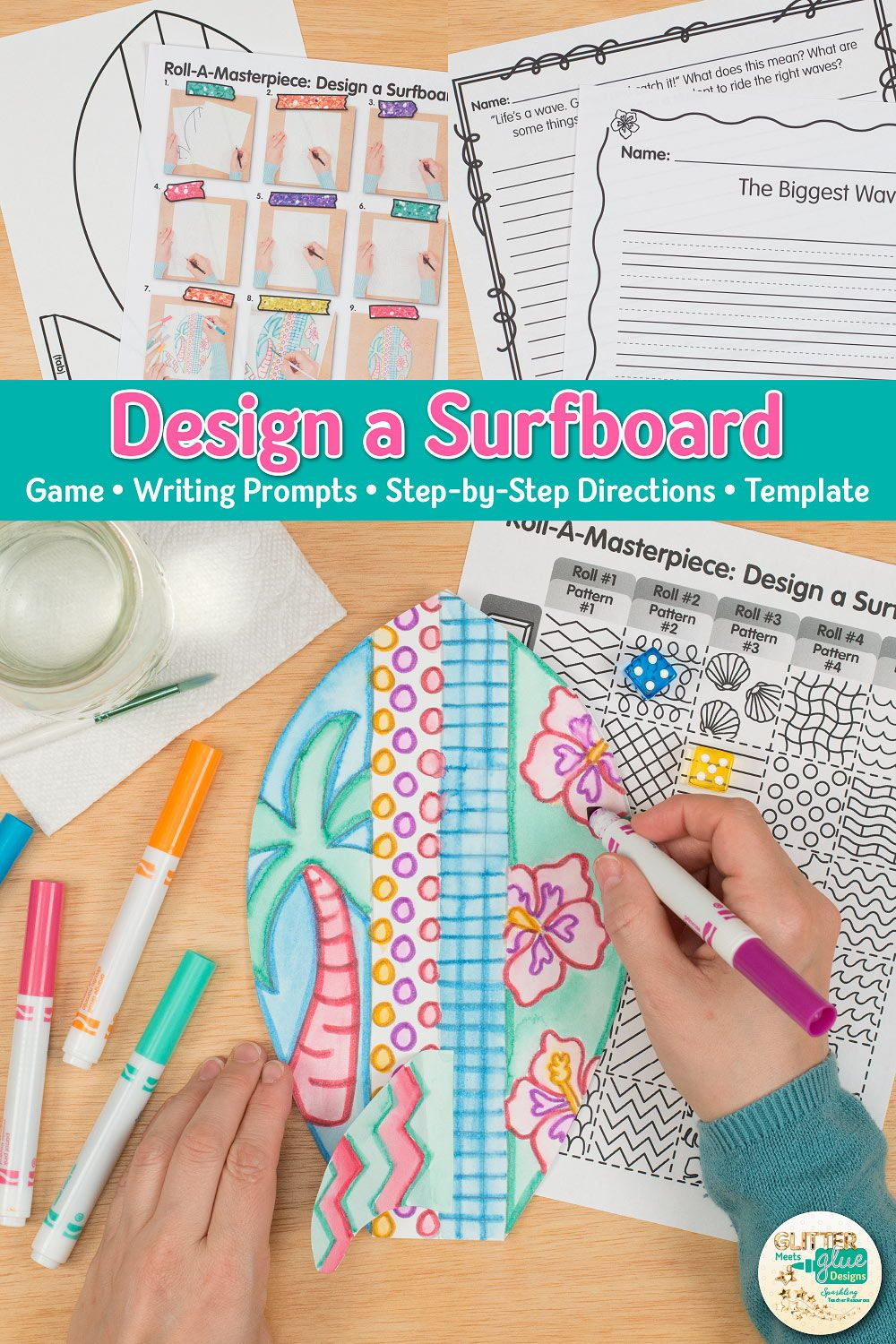 Surfboard Drawing Game (With images) Art games for kids