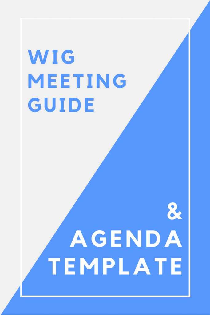 Wig Meeting Guide And Agenda Templates For Businesses  Business