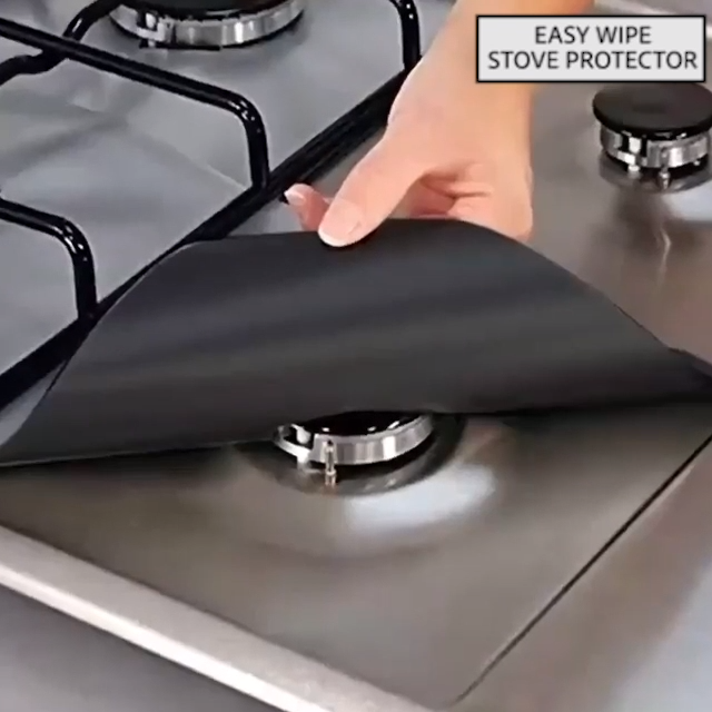 Easy Wipe Stove Protector 4pcs Video Video In 2020 Gas Stove Stove Burner Covers Gas Stove Burner