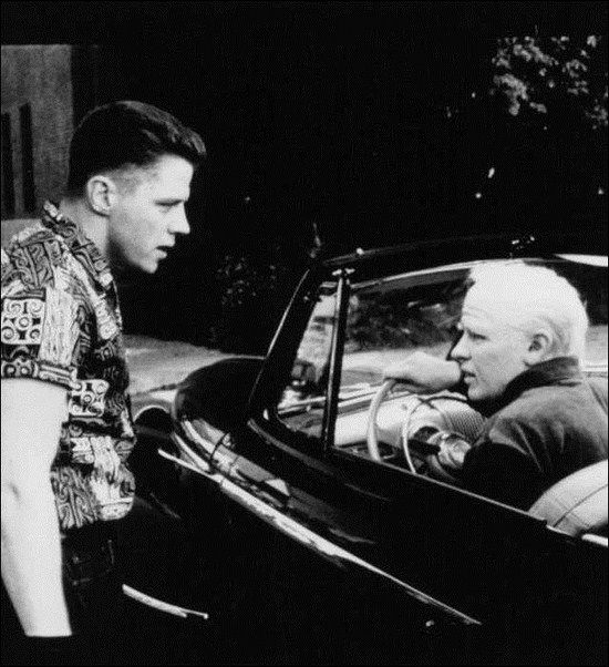 Bttf 2 1989 Tom Wilson Doing Double Duty As 1955 Biff Meets 2015