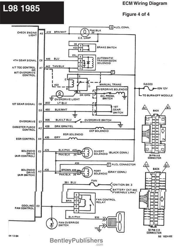 wiring diagram l98 engine 1985 1991 (gfcv) tech bentley 1991 Corvette Charging System 1991 corvette wiring diagram schematic